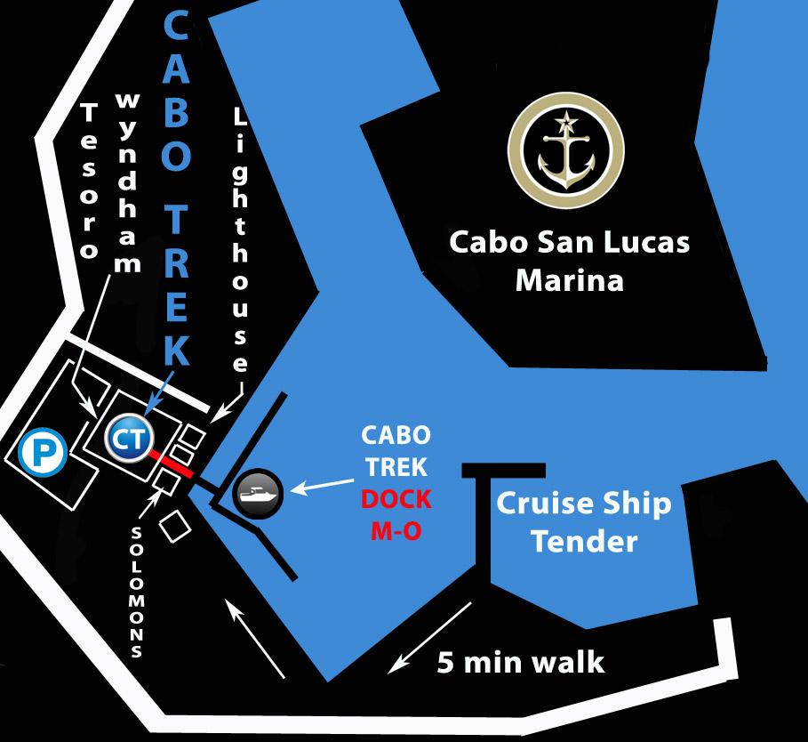 Cabo Trek map